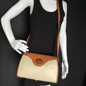 Vintage Dooney & Bourke Leather Long Crossbody Bag